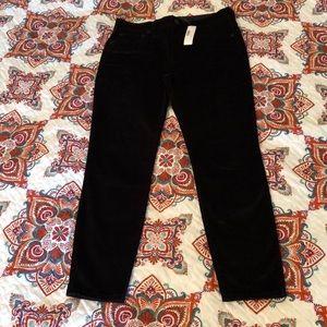 """J. Crew 9"""" high-rise toothpick jean black velvet"""